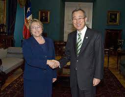 Mrs. Bachelet and Mr. Ban Ki-Moon