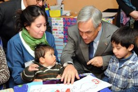 Chilean President with the Children of San Bernardo