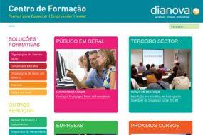 Website del centro de formación Dianova en Portugal