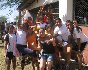 étudiants de l'école Las Marias, au Nicaragua