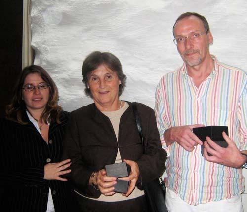 Björn Fältman, Elena Goti (center)