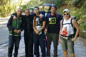 Les ados du centre de Zandueta, avec leurs éducateurs