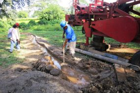 Sinking of the Dianova school's drinking water well