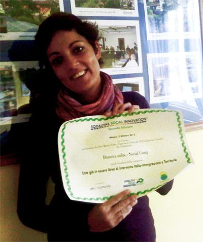 Ms. Ceccarelli received the award on behalf of Dianova