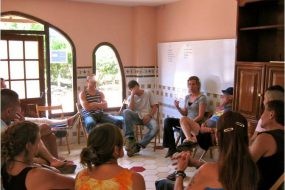 Meeting with residents - Can Parellada residential treatment center (Spain)