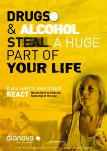 Dianova's 'React' Drug Awareness Campaign