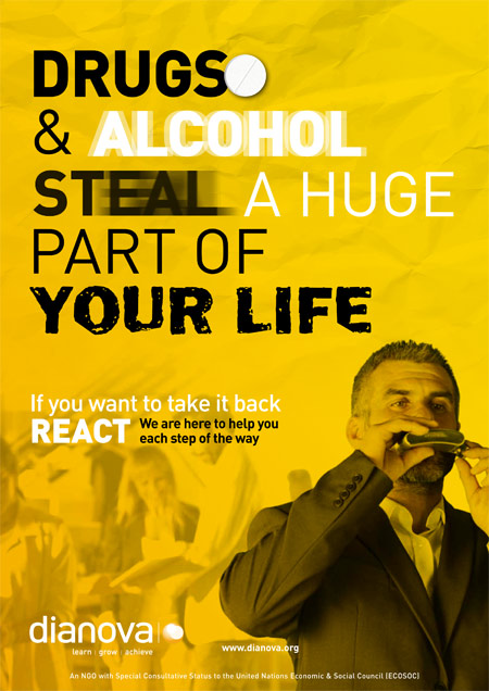 Dianova's 'React' Drug Awareness Campaign