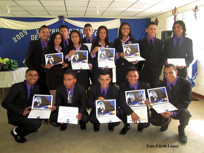 Graduation ceremony at Las Marias school