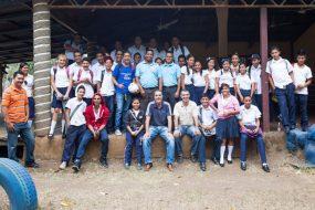 Students and professors, Esther del Rio school