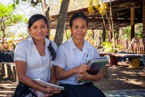 Students at Esther del Rio-Las Marias education center (Nicaragua)