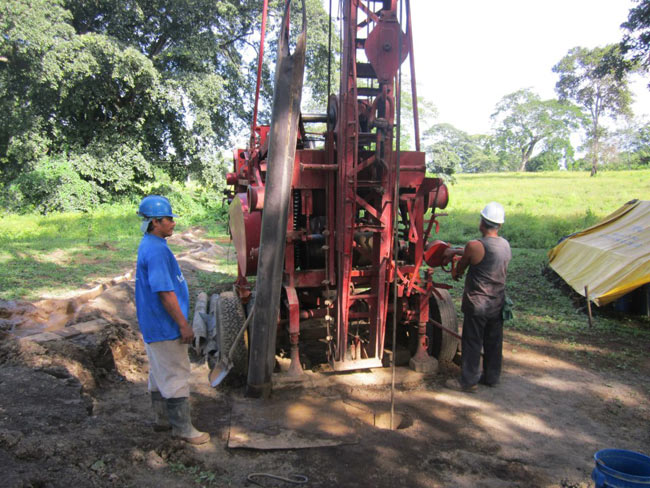 construction of the well