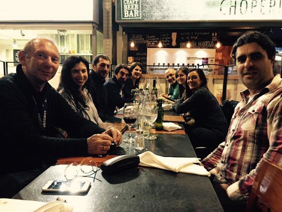 Celebration dinner for the staff of Dianova Uruguay