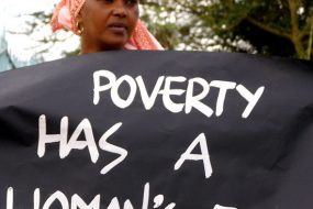 La pauvreté a le visage d'une femme