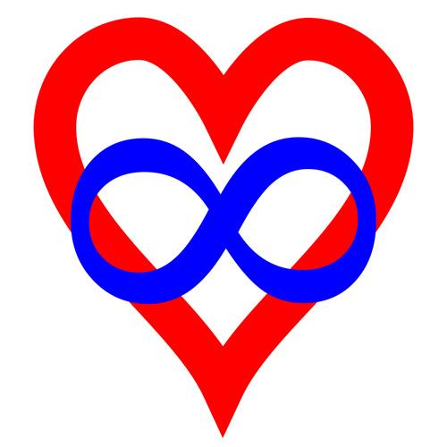corazón y símbolo infinito