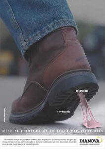 Campaña Mira el problema de las drogas con otros ojos - Dianova - zapato pegado o avanzando