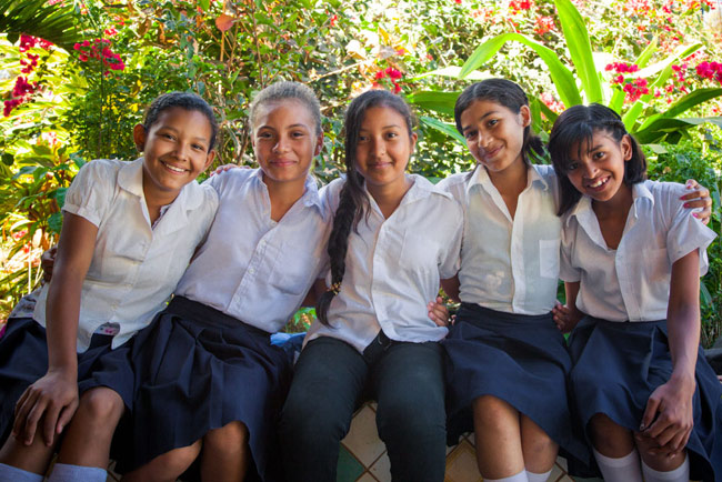 Students from the Dianova Nicaragua Foundation