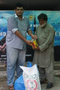 Food distribution in Pakistan