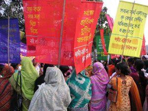 Manifestation à Dhaka (Bangladesh)