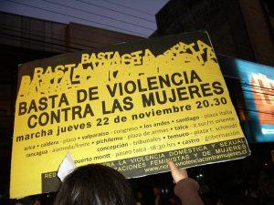 Marcha contra el femicidio en Chile