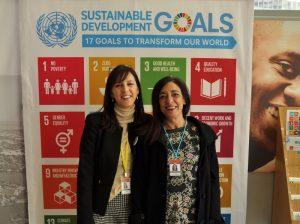 Lucia Goberna (left) and Montse Rafel, Dianova representatives at CND