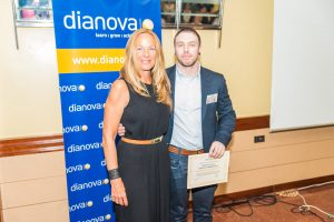 Kenneth Arctander (Rio) and Cristina Lizarza, President of Dianova