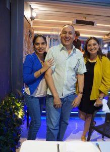Silvía García, Alberto Leon and Ana Santos