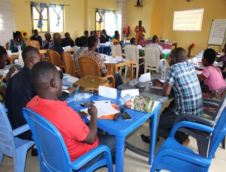 View of workshop's participants