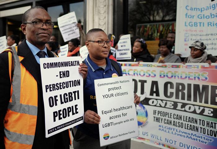 Marcha para exigir la igualdad para las personas LGBTI