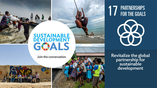 Goal 17: Revitalize the global partnership for sustainable development