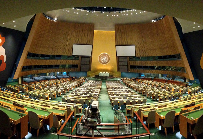 View of the United Nations General Assembly