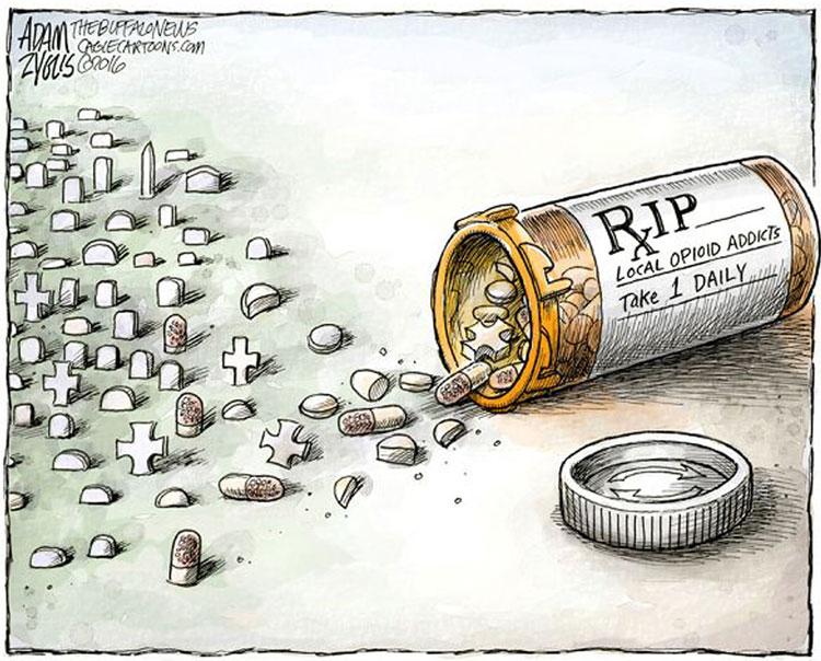Opioid epidemic cartoon