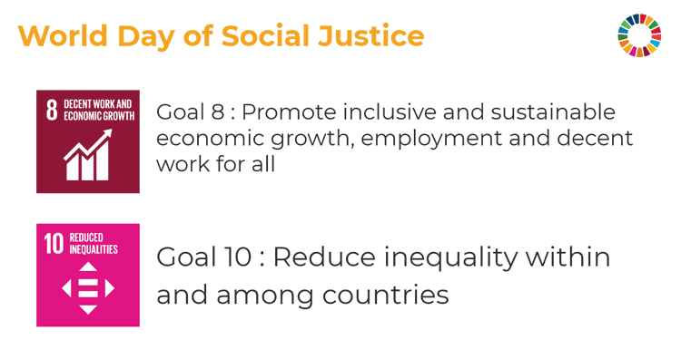 Sustainable development goals 8 and 10