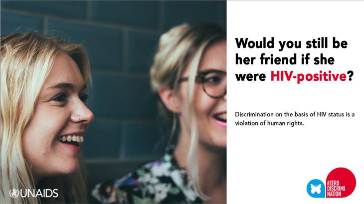 UNAIDS campaign - HIV poster