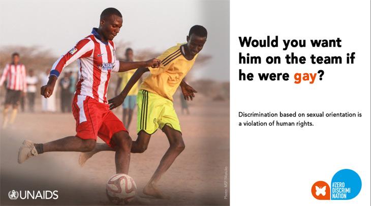 UNAIDS campaign - gay