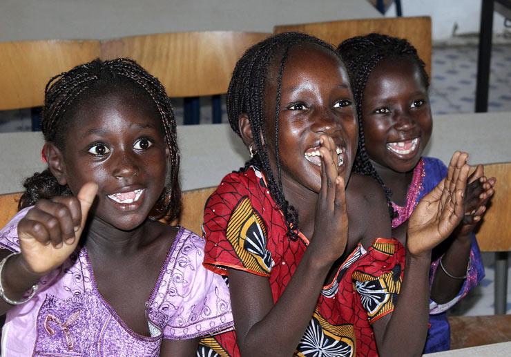 Gambian girls at school
