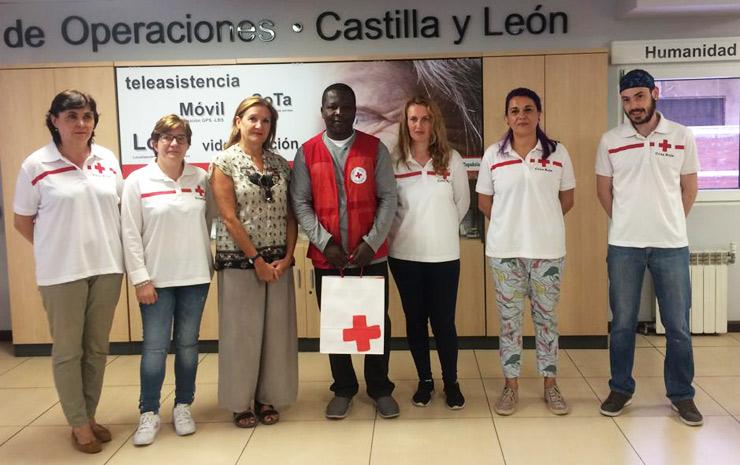 Eugene Etse and Red Cross representatives
