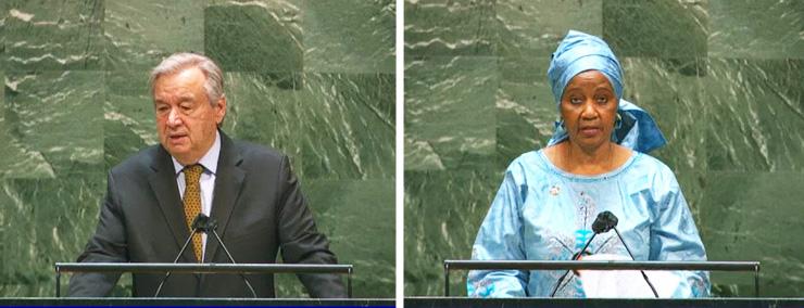 António Guterres and Phumzile Mlambo-Ngcuka